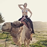 January 2015: Chelsea went topless, this time riding a camel, in Jerusalem.