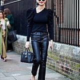 Cropped Leather Flares