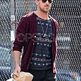 Ryan Gosling wore a cardigan as he took a stroll around NYC.