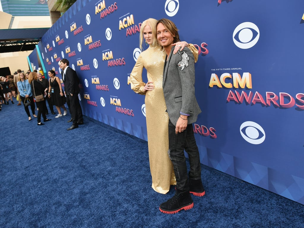 Whenever we start to doubt that true love really exists all we have to do is take a quick glance at Nicole Kidman and Keith Urban to be reminded that, yep, it's the real deal, y'all. The adorable pair — who have been married for almost 12 years — hit the blue carpet at the ACM Awards in Las Vegas on Sunday night, and they couldn't tear their eyes off of each other. Sure, the night featured some amazing performances and a touching tribute, but all we could focus on was how sweet Nicole and Keith were being throughout the show. Take a look through their cutest moments below!