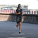 Pippa Middleton running in London.
