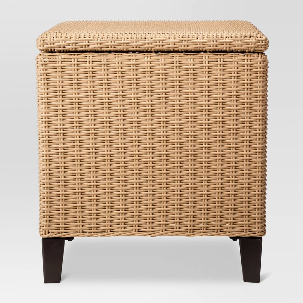 Fullerton Wicker Patio Storage Side Table