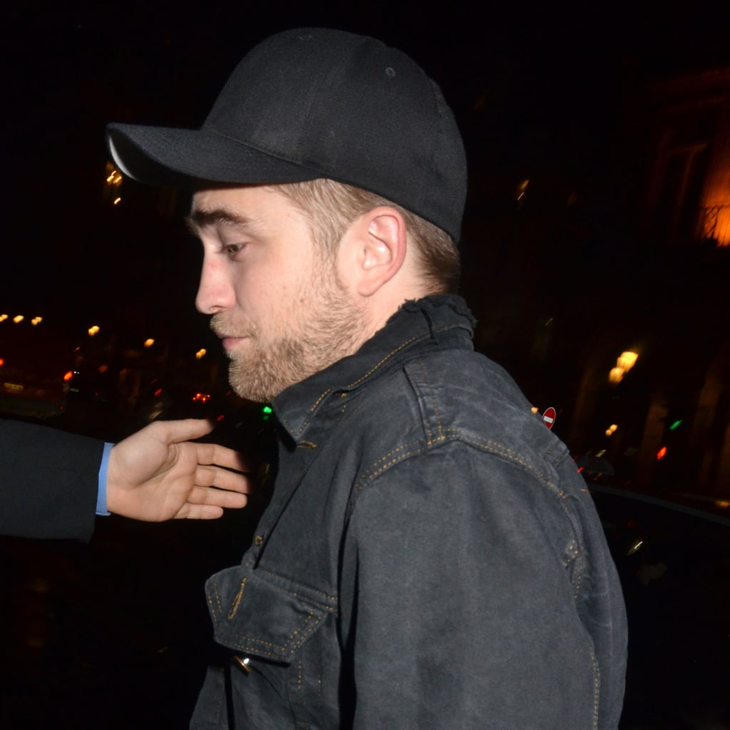 Robert Pattinson left a fashion party at Paris's Museum of Decorative Arts.