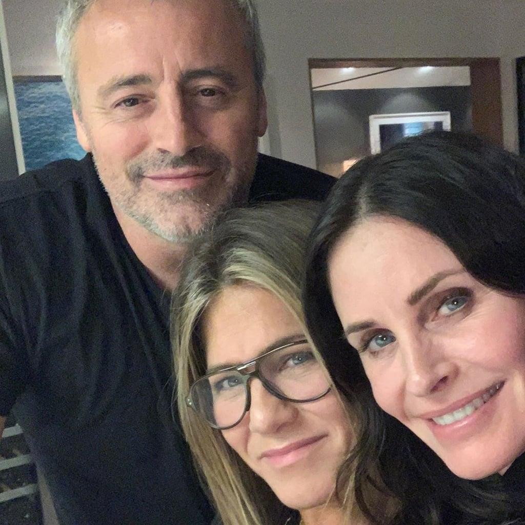 Courteney Cox, Jennifer Aniston, Matt LeBlanc Reunion Photo