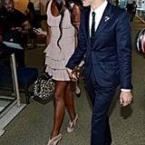 Naomi Campbell walked with Zac Posen.