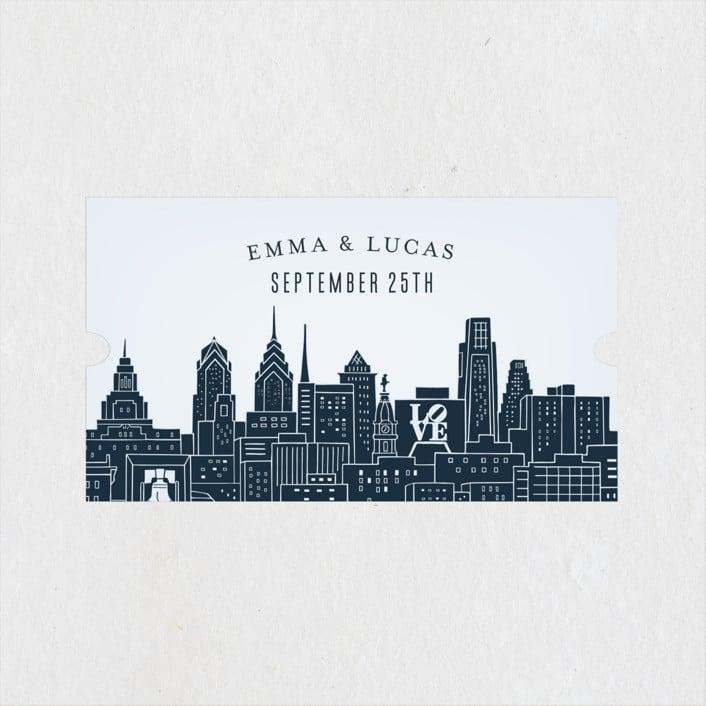 Philadelphia Customizable Wedding Favor Sticker State Wedding