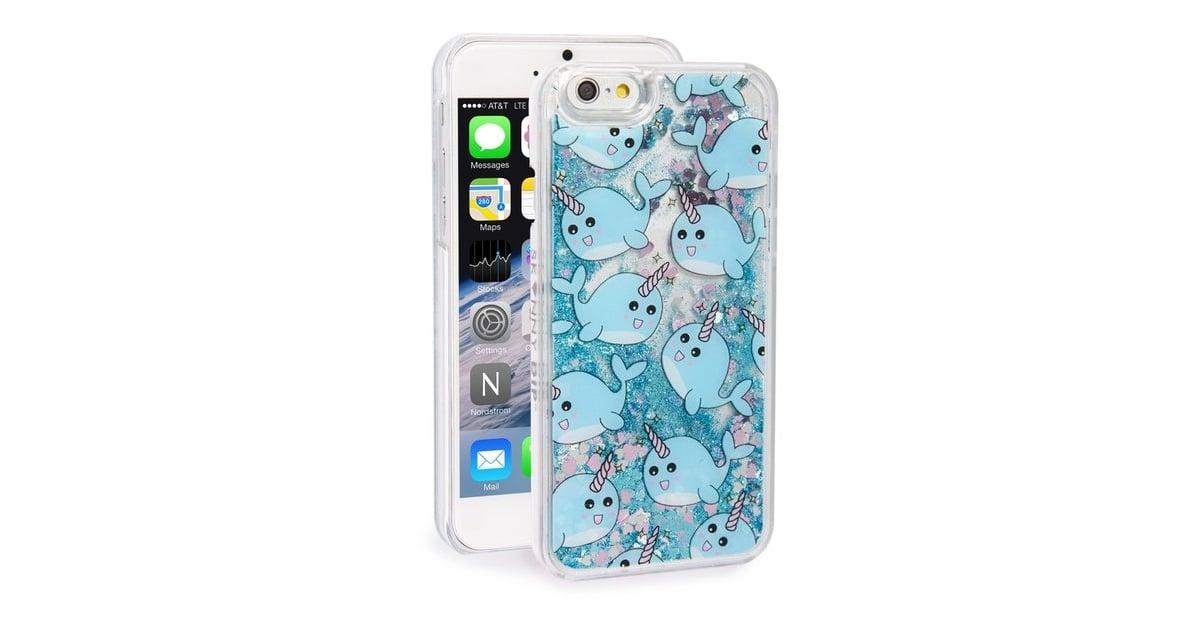 timeless design 538be 681cf Skinnydip 'Narwhal' Glitter Liquid iPhone 6/6s Case ($30) | Summer ...