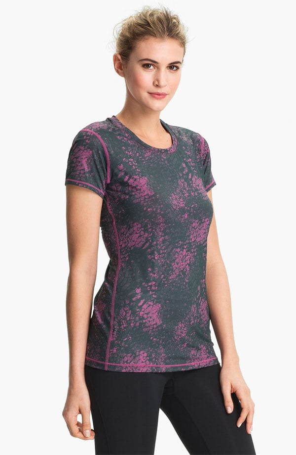 Layers of animal print and unexpected colors make this Hot Shot tee ($30) the right buy for anyone who's worried about going too wild with their Spring workout wardrobe.