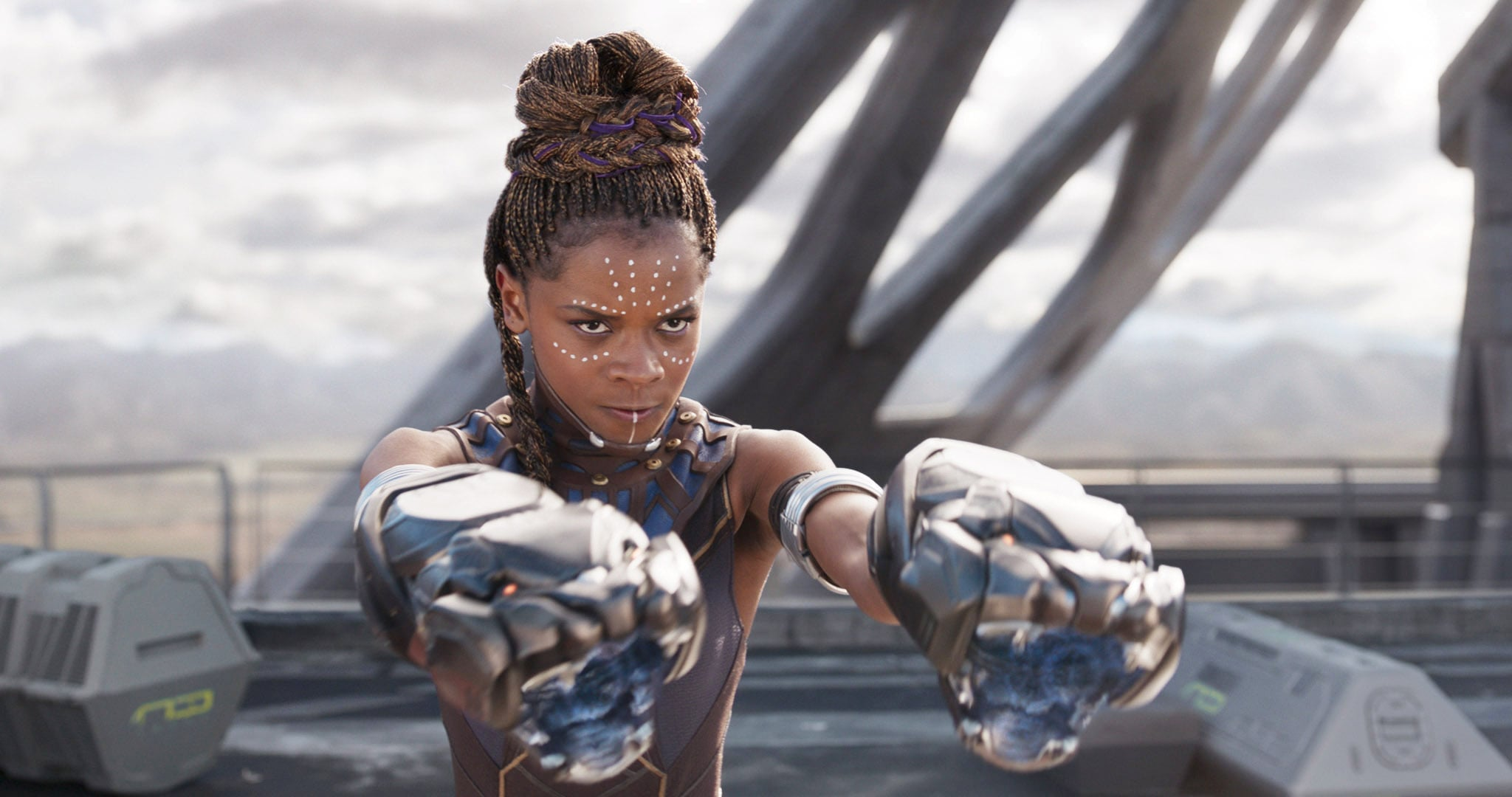 BLACK PANTHER, Letitia Wright, 2018.  Marvel /  Walt Disney Studios Motion Pictures /Courtesy Everett Collection