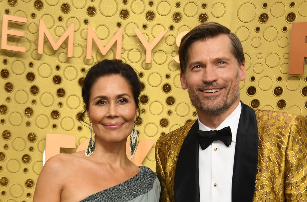 Nukaaka and Nikolaj Coster-Waldau at the 2019 Emmys