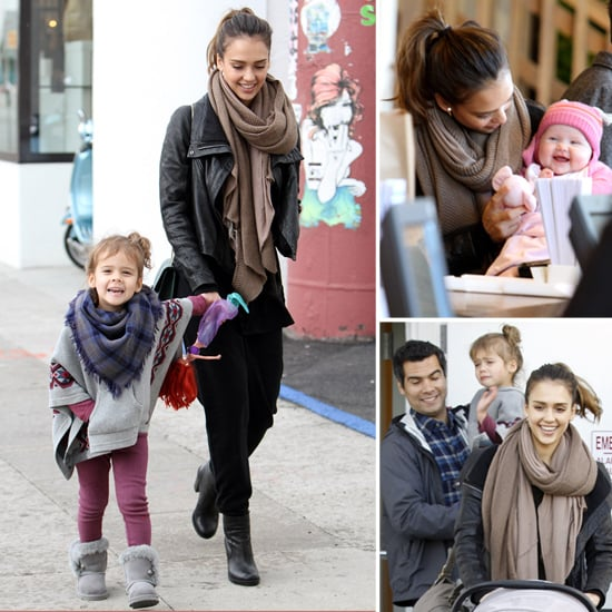 Jessica Alba Gets Into the Holiday Spirit With Cash, Honor, and Baby Haven