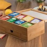 Bambusi Bamboo Tea Box Organizer