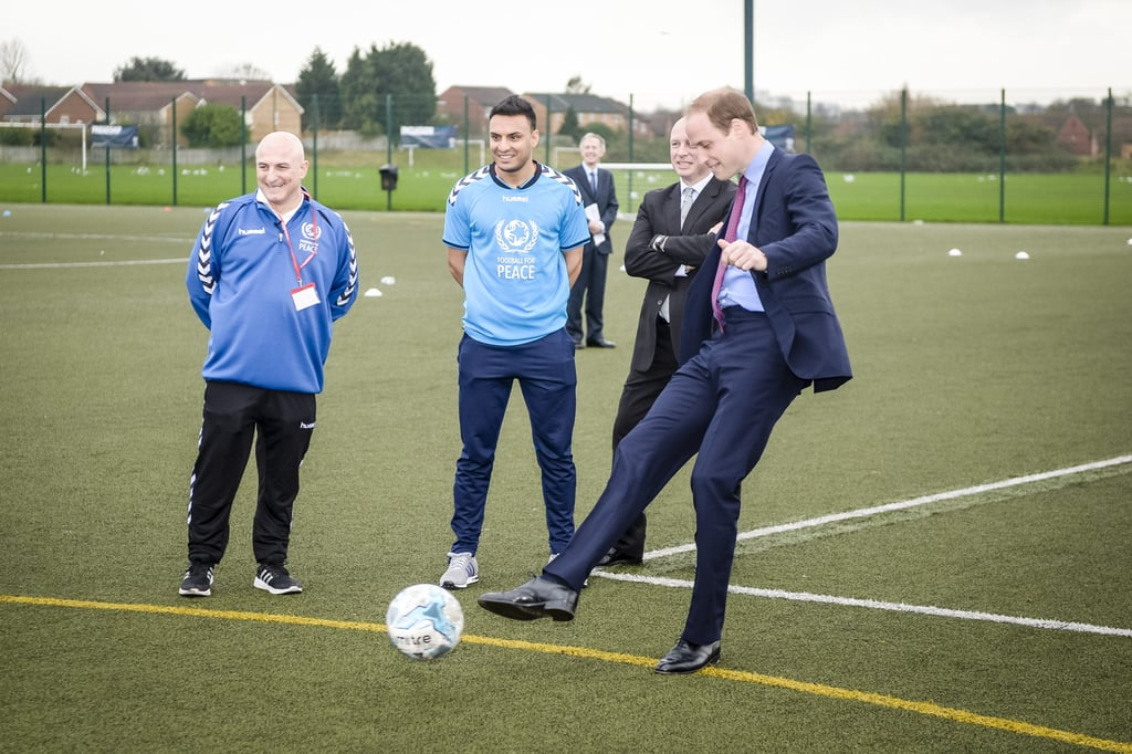 Prince William Playing Football December 2015