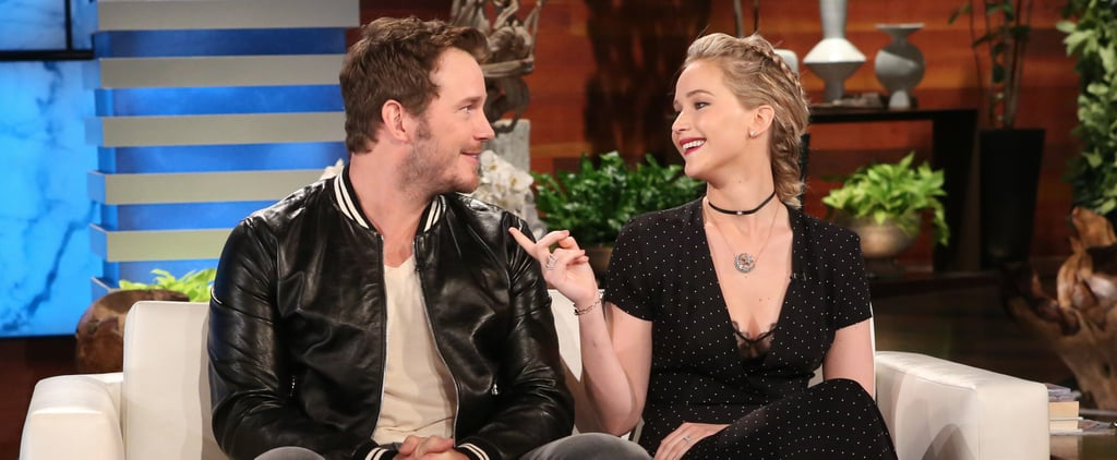 "Jennifer Lawrence Jokes That Chris Pratt and Anna Faris's Perfect Romance Makes Her Feel ""Miserable"""