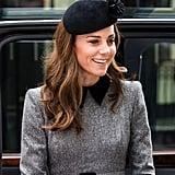 Kate Middleton Gray Coat Dress March 2019
