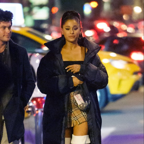 Ariana Grande's Burberry Miniskirt With Graham Phillips