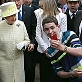 A boy in Belfast, Northern Ireland, boldly snapped a selfie with Queen Elizabeth II when she visited his town in June 2014.