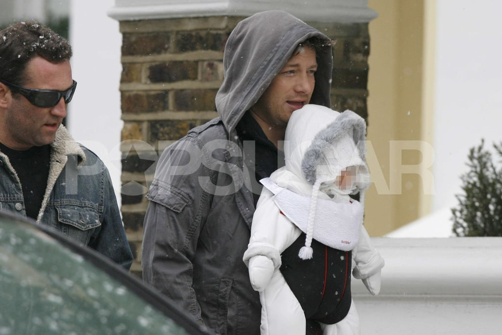 Photos of Jamie Oliver With Baby Petal in Snow