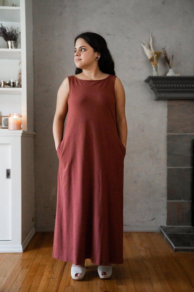 fb63548f17d Mien Studios Fortuna Column Dress in Red Currant