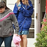 AnnaSophia Robb was in NYC on the set of The Carrie Diaries.