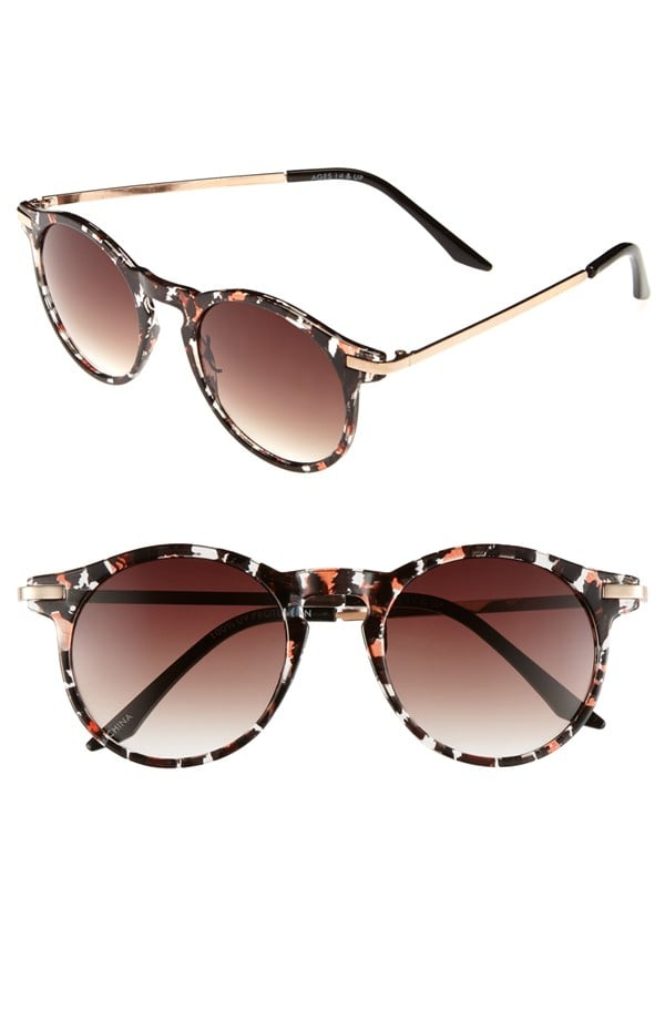 We love the tortoiseshell take of this pretty mottled FE NY frame ($22).
