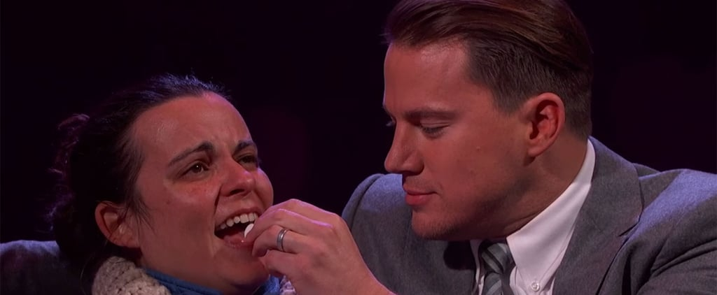 Channing Tatum Whispers Sweet Nothings Into a Woman's Ear For Valentine's Day