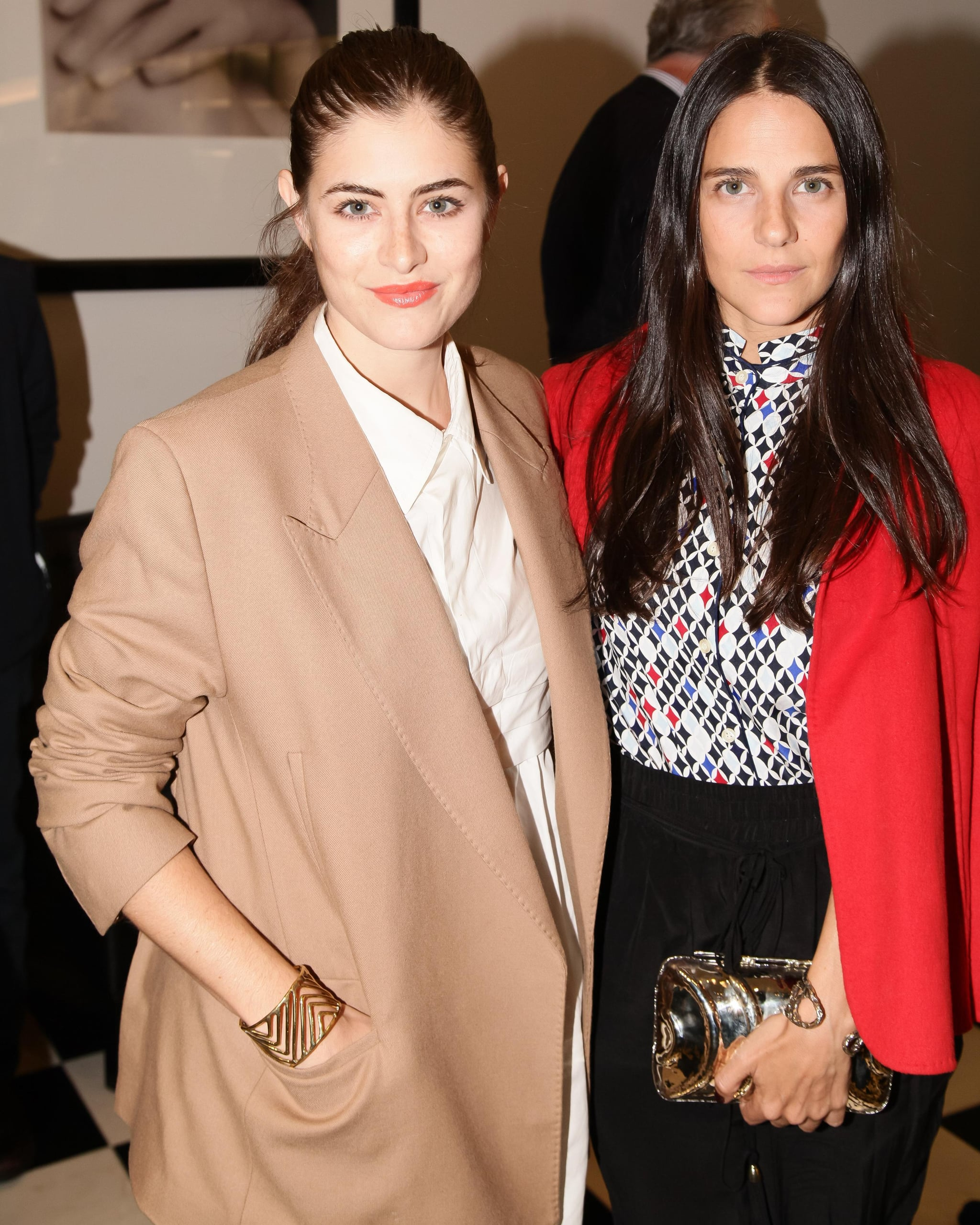 Annette and Phoebe Stephens had coats too good to take off inside at the Bloomingdale's Vensette event.