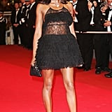 Naomi Campbell's sheer minidress wowed the crowd in 2007.