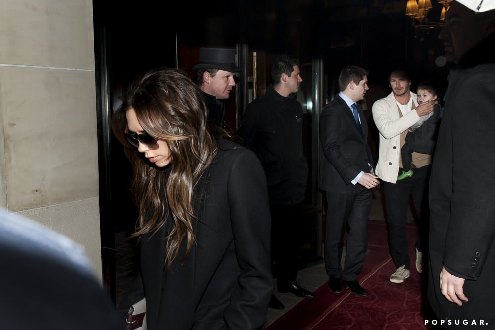 Victoria Beckham and the family went to a birthday dinner for Cruz in Paris.