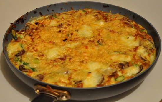 Savory Leek, Mushroom, Asparagus Frittata