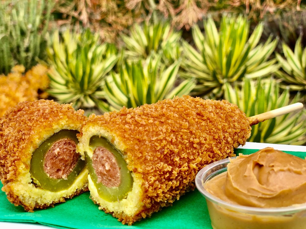 Downtown Disney Is Now Selling a Panko Crusted Pickle Dog