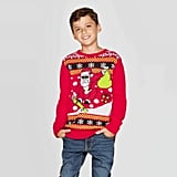 Well Worn Boys' Skater Santa Ugly Christmas Sweater
