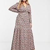 ASOS Design Curve Long Sleeve Maxi Tea Dress