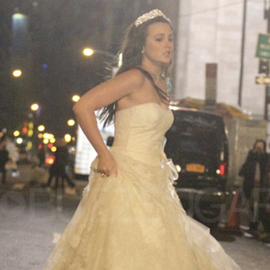 Leighton Meester in a Wedding Dress Pictures