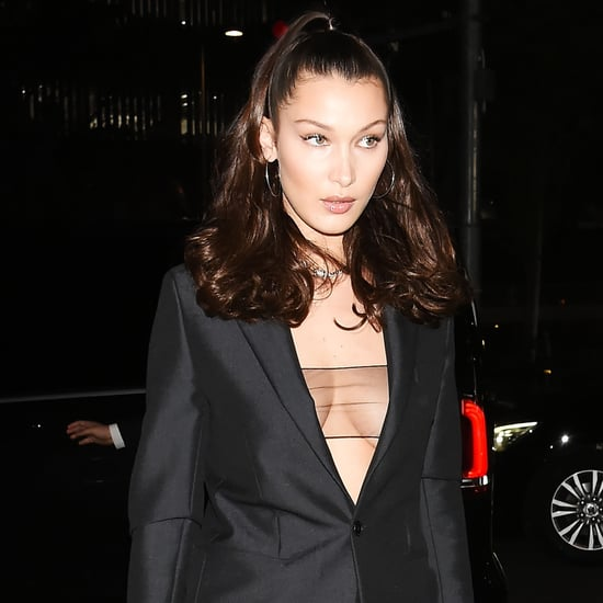 Bella Hadid's Sheer Black Top
