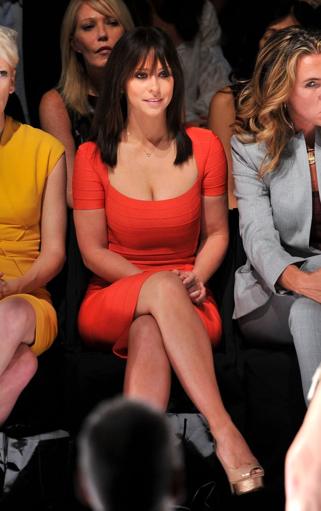 Jennifer Love Hewitt at the Project Runway fashion show.