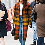 Style Your T-Shirt With: Jeans, Heels, and a Coat