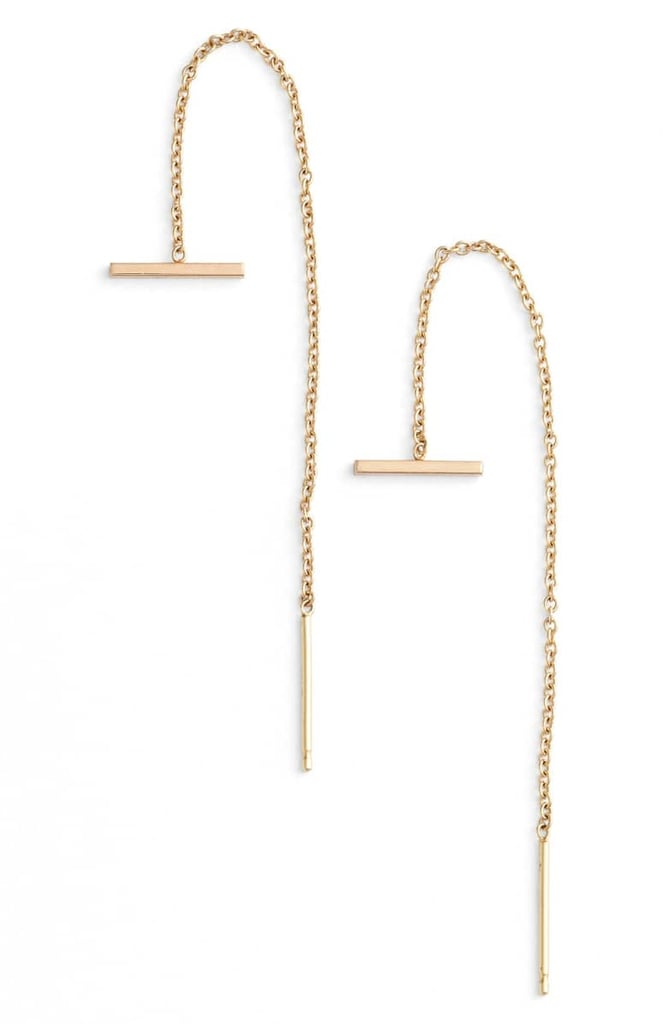 Zoë Chicco Bar Threader Earrings