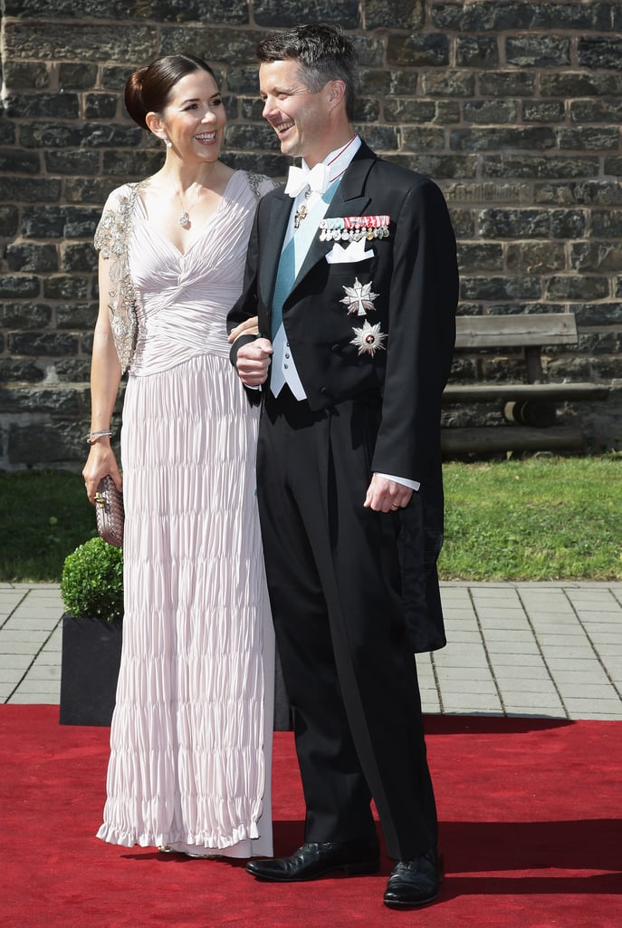 Princess Mary and Prince Frederik at a Wedding