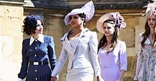 Priyanka Chopra Just Walked Into the Royal Wedding in the Most Magical Shade of Lavender