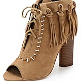 Cynthia Vincent Fringe Open Toe Booties ($265)
