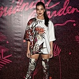 Hailee Steinfeld wearing a Fausto Puglisi look at the Nylon Midnight Garden After Dark party.