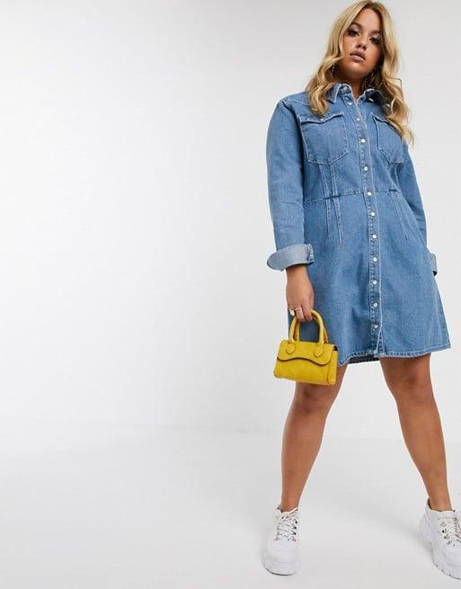 ASOS Design Curve Denim Structured Shirt Dress