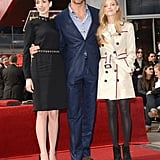 Hugh Jackman was joined by Anne Hathaway and Amanda Seyfried.