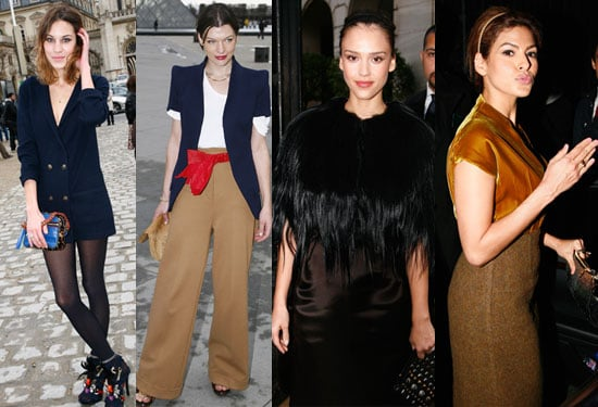 Photos of Milla Jovovich, Eva Mendes, Jessica Alba, Alexa Chung at Paris Fashion Week