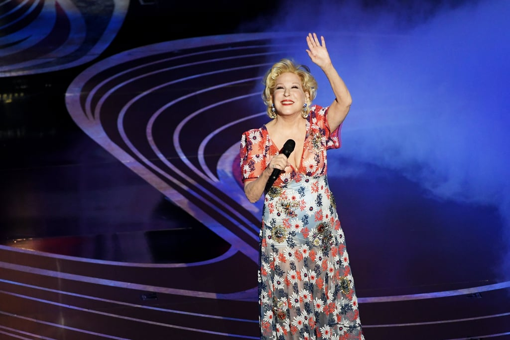 """Bette Midler's return to the Oscars stage was a powerful one, and we expected nothing less. On Sunday night, the 73-year-old singer stepped out and delivered a remarkable rendition of the Mary Poppins Returns song """"The Place Where Lost Things Go."""" Donning a glimmering colourful dress with floral details, she beautifully belted the number with her strong vocals as red floating umbrellas hovered over the stage — an apt nod to Mary Poppins. The tune was originally sung by Emily Blunt in the 2018 film.  Midler has previously graced the Oscars stage with her stunning voice. At the 2014 show, she performed her 1988 ballad """"Wind Beneath My Wings."""" We're just glad she had the opportunity to bless us with yet another striking production at the Academy Awards ceremony. Ahead, watch her sing """"The Place Where Lost Things Go"""" and view more photos of her set!      Related:                                                                                                           Presenting All of the 2019 Oscar Winners, So Far"""