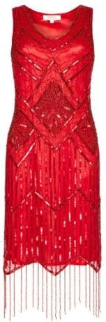 Gatsby Lady Isobel Red Fringe Dress