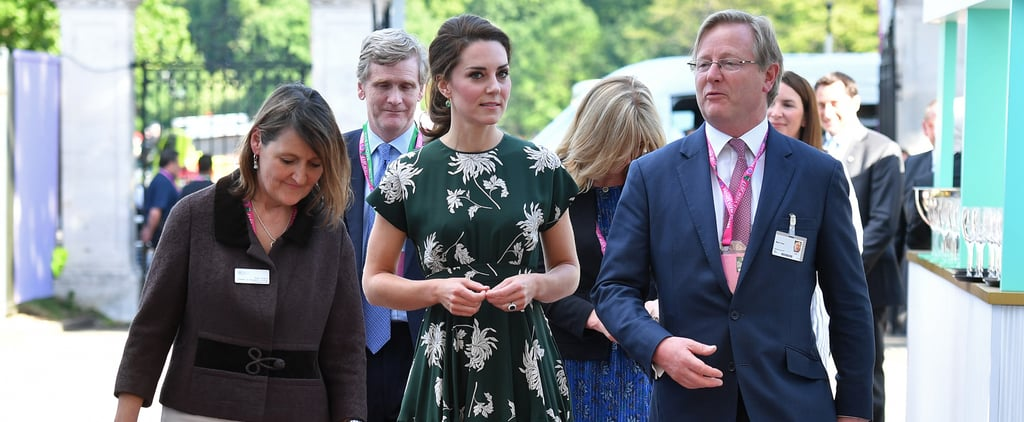 The Duchess of Cambridge Green Rochas Floral Dress
