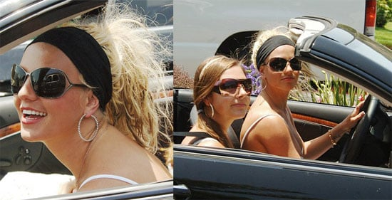Britney Embraces Headband To Hide Hair Nonsense