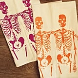 Skeleton dishtowels ($13) will give your kitchen a festive touch and make a great hostess gift for an upcoming Halloween party.